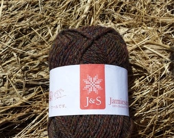 Jamieson and Smith 100% real Shetland wool 2ply jumper weight. FC58