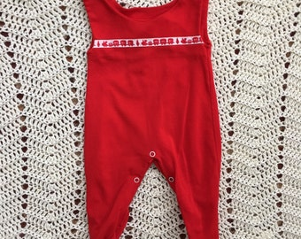 SALE*** 70's Red Sleeper 3 Months