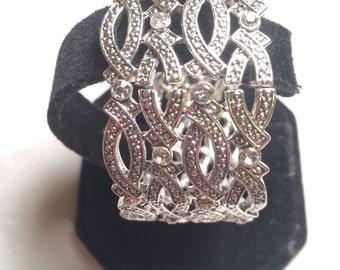 Sliver tone designer bracelet