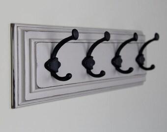 Wall Coat Rack in Light Gray