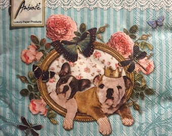 """Package of 20, Royal Dogs, 13"""" x 13"""""""