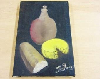 J. JONES Oil On Canvas Still Life Painting 8 x 12 –Artist Signed