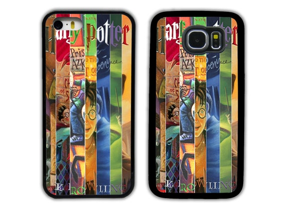 Harry Potter Book Cover Phone Case : Harry potter books book covers collage for iphone by