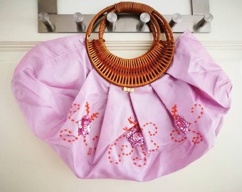 Sequins embroidery silk bag