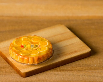 Dollhouse Miniatures Orange in Syrup Tart