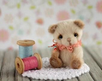 """Teddy bear, toy, bears, miniature bear, bear toy, artist bear, animal, miniature 2.7 """" inch tall (7 cm)"""
