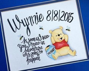 Winnie the Pooh Nursery Watercolor. Winnie the Pooh Nursery Decor. Winnie the Pooh art