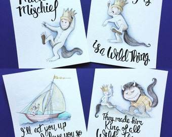 Where the wild things are nursery decor. Where the wild things are nursery wall art.