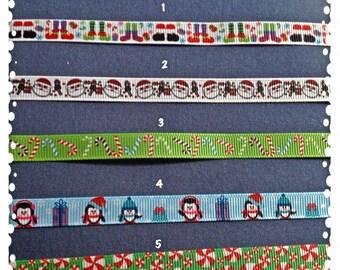 3/8 Wide Custom Made Adjustable Christmas Patterns Breakaway Cat Collar