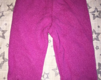 100% Cashmere Hot Pink Baby Leggings Longies Pants Longies - Size 0-3M