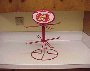 Jelly Belly Candy Store Counter Rotating Metal Display Rack, Bean, Home, Kitchen Decor