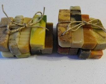 Organic Soap Set/Soap Sampler/Soap Samples/Natural Soap/Essential Oil Soap/Handmade Soap/Guest Soap/Travel Soap/Cold Process Soap/Gift/Sale