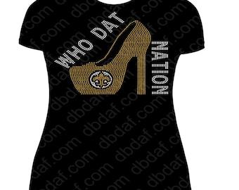 New Orleans Saints rhinestone sports design