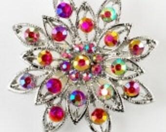 crystal brooch, vintage brooches, austrian brooches, swarovski brooches, Austrian crystal pin, swarovski pins, crystal pins
