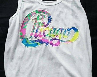 1980's Chicago White Concert T-shirt, Tank Top, Vest, Sleeveless