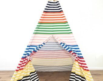 Multicolor kids teepee play tent