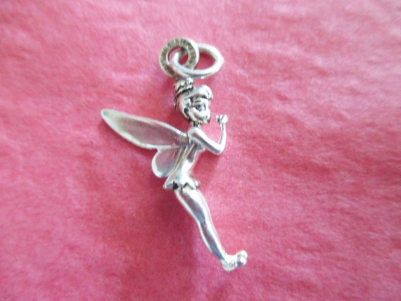 disney vintage ltd ed tinkerbell charm sterling silver with