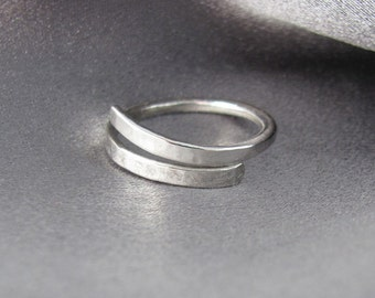 Sterling Silver Ring, Adjustable Ring, Minimalist Silver Ring, Adjustable Ring