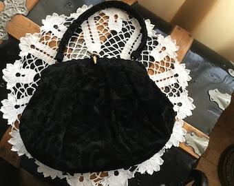 SALE ****LEWIS Black Velvet Purse