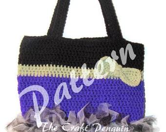 Witch Bottom Trick or Treat Bag PATTERN, Halloween Bag Crochet Pattern, Witch bottom, witch bag, crochet tote, tutu bag