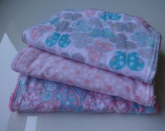 Butterfly Burp Cloth Set for Baby Girl
