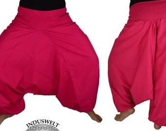 Plain Harem Pant Cotton pink