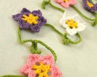 Spring Garland, Flower Garland, Hanging Flower Garland, Spring Decor, Easter Garland, Crochet Flower Garland, Hanging Spring Flower Garland