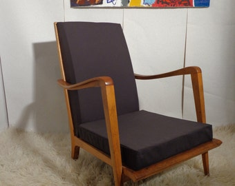 Wheelchair or pair of armchairs vintage Scandinavian of the 1960s