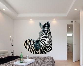 Zebra Decals, Zebra Wall Nurals, Animnal Decals, Kids Bedroom Decor, Laptop Zebra Sticker, Zebra Wall Design, Zebra Wall, Zebra Decor, c04