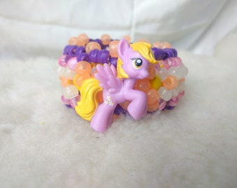 My Little Pony Lilly Valley 3D Carousel Kandi Cuff • Rave Accessory • EDM • Costume •