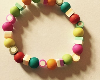 Dolly mix inspired beaded bracelet