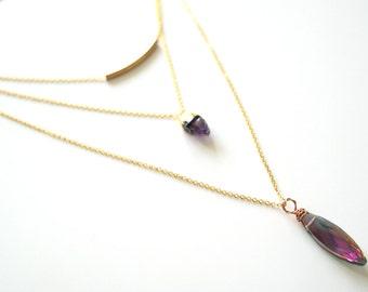 Night paradise layered necklace