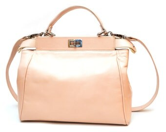 Bia Blush Pink Leather Tote Bag