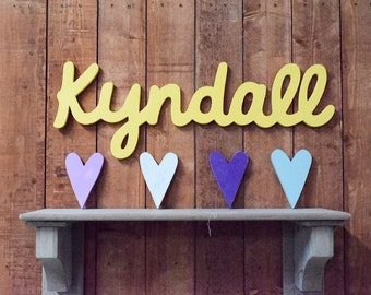 Wooden Baby Name Sign Savannah Wooden Name Signs For