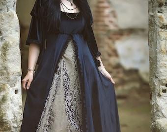 Angelique Dress - Handmade Velvet Medieval Regeny Gown Game of Thrones Maternity