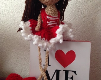Be my Valentine little doll