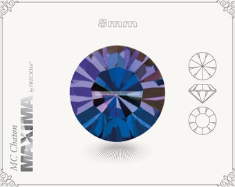 6 pc.+ SS39 (8mm) Preciosa MC Chaton MAXIMA - Crystal Heliotrope Color