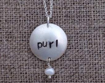 purl necklace - sterling silver