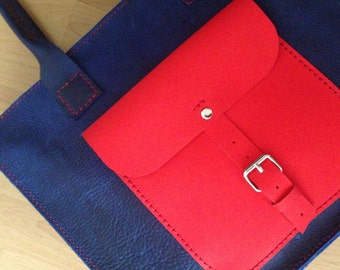 Blue Leather Tote Bag,Tote red bag