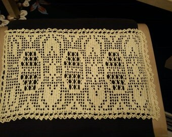 Yellow crochet runner