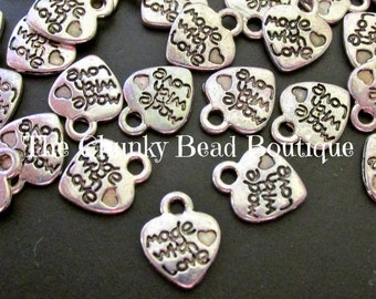 10x12mm Made with Love charms (1 oz)