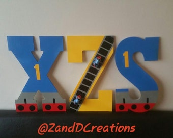 Thomas the Train Inspired Wooden Letters with Thomas the Train Minis!