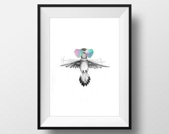 Boho Birds #1 Art Print