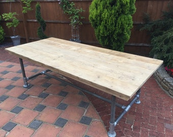 Reclaimed Scaffold board large table 8ft long