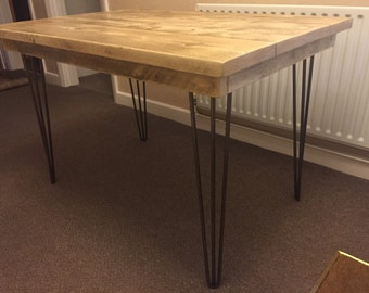 Reclaimed scaffold board hairpin leg table / desk