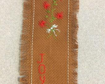 Cross stitch bookmark