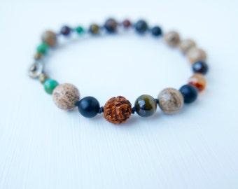Mens Balance Bracelet/men's jewelry/men's bracelet/men's beaded bracelet/men's mala/men's yoga jewelry/mala/healing jewelry/mala beads