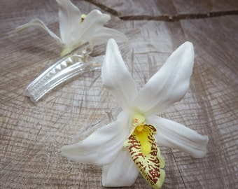 Orchid Hair Clip ~2 pieces #100944