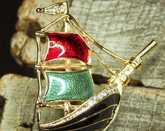 Sail Boat Brooch #5417