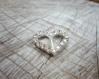 Heart Buckles ~1 pieces #100706